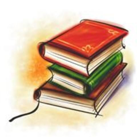 Stapel mit drei Büchern